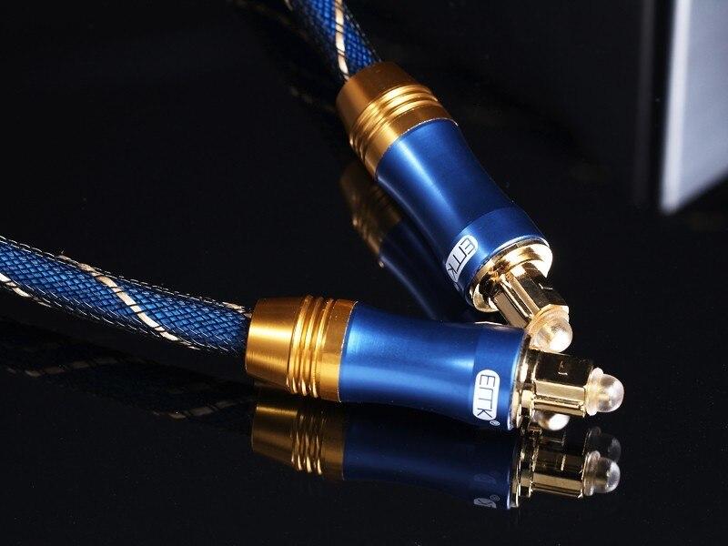 OD6.0mm Alta calidad Azul Digital Óptica óptica Fibra Toslink Audio - Cables de computadora y conectores - foto 2