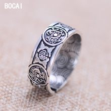 S999 silver jewelry wholesale network Four great god beast Open ring xh053002w female model(China)