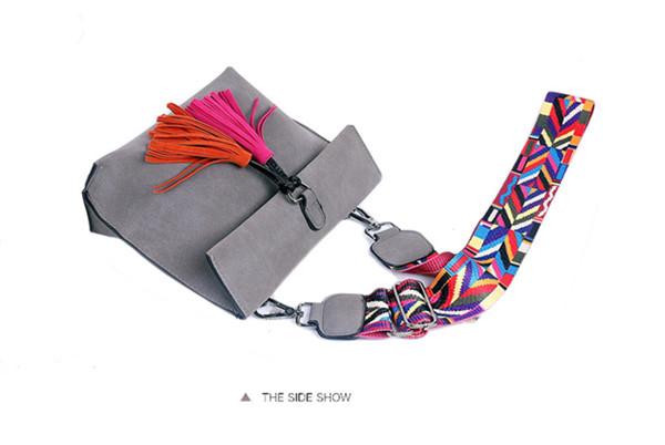 EXCELSIOR Women's Bag Scrub PU Crossbody Bags Luxury Handbags Women Bags Designer bolso mujer Colorful Strap sac a main femme 12