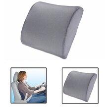 Memory Foam Lumbar Back Support Almohada Cojín para el Coche Auto Asiento Masaje Cuello Almohada Home Office Cojín Respirable