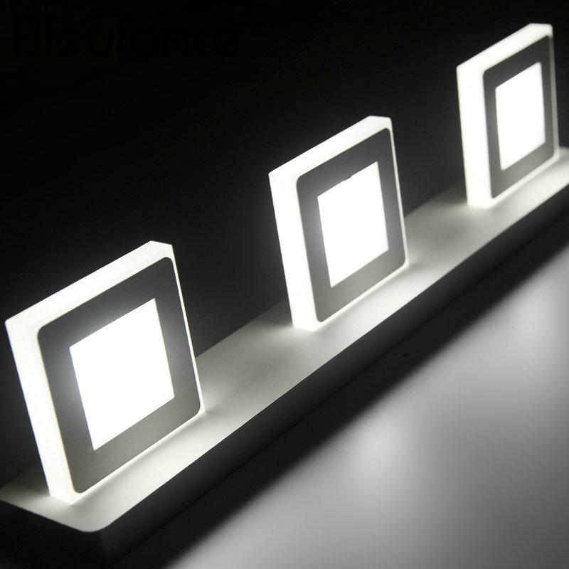 Modern Wall Lamp LED interior Mirror Front Wall Lamp Bedroom Living Room Bathroom Lights LED Acrylic Wall Light 110V 220V BL259
