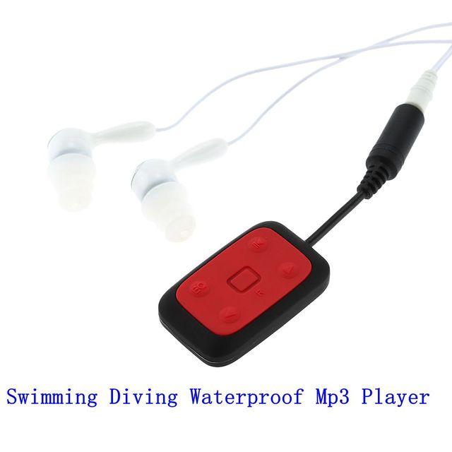Digital 8 GB Clip-on IPX8 Impermeable Reproductor de Mp3 Radio FM Natación Buceo Deportes de Sonido Estéreo con Auriculares USB Cable de carga
