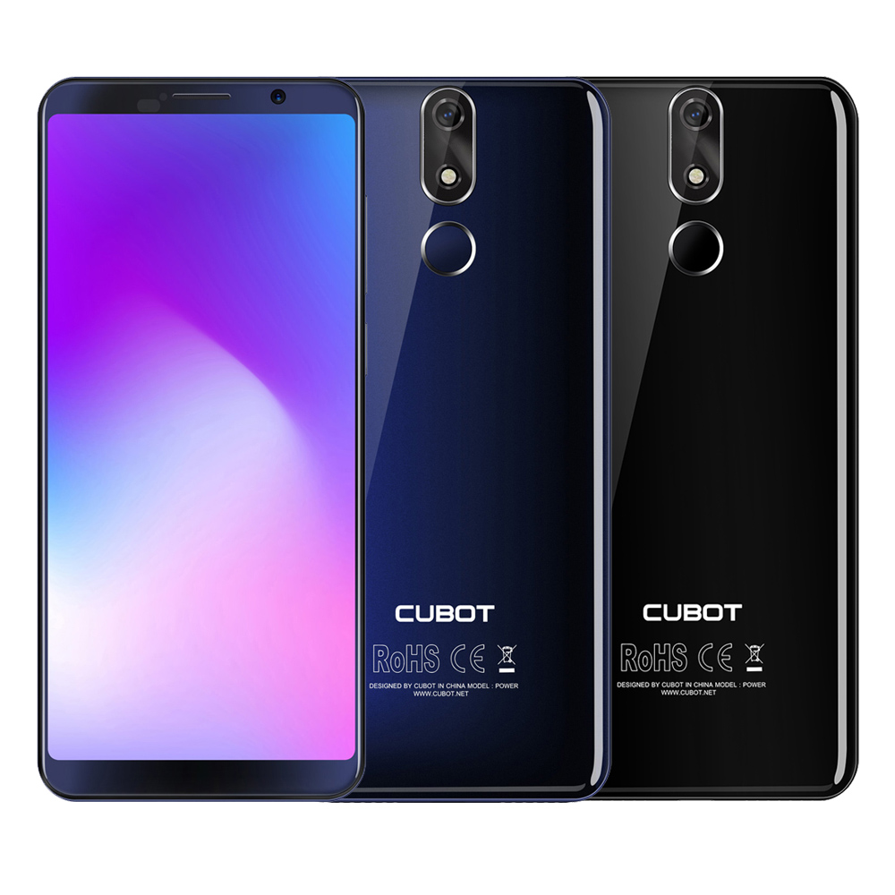 CUBOT POWER 5.99 Inch FHD+ Android 8.1 6000mAh Fingerprint Smartphone Dual 4G LTE 6GB128GB MT6763T Octa Core 20MP Smartphone