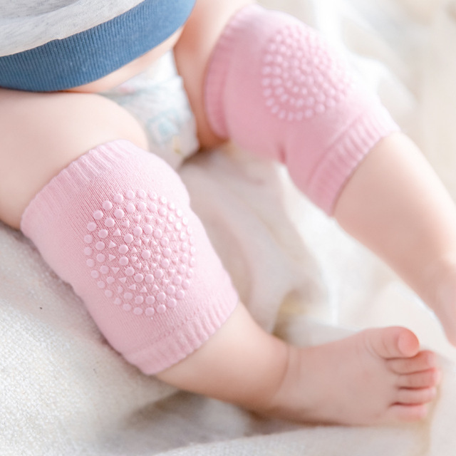 a0ae905d7e 1Pair Baby Anti Slip Knee Pads Newborn Infant Toddlers Safety Crawling  Elbow Baby Kneecap Protector Leg Warmers Socks