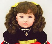 22 inch 55 cm Silicone baby reborn dolls, lifelike doll reborn babies toys Beautiful fashion princess skirt hair girl