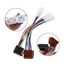 ISO автомобильный радиоприемник жгут проводов адаптер штепсельный кабель для TOYOTA Lexus MR2 Land Cruiser RAV4 Solara Yaris