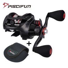 Piscifun Torrent Fishing Reel With Baitcasting Reel Bag 8.1kg Max Drag 7.1:1 Gear Ratio Magnetic Brake light fishing Reel
