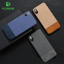 FLOVEME Luxury Phone Case For iPhone X XS Max XR Cloth Soft Silicone Phone Cases For iPhone 7 8 6 Plus Fabric Cover Coque Capa(China)