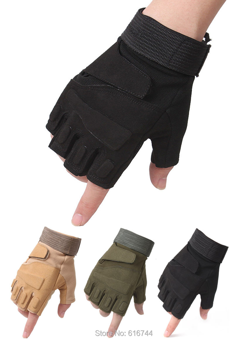 Multipurpose Mountaineering Sports Cycling Bike MTB Bicycle Half Finger Gloves 3 Colors