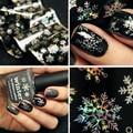 1 sheet 100cm*4cm  Christmas Snowflake Holographic Nail Foils Nail Art Transfer Sticker Paper  # 22930
