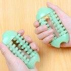 1PCS green Plastic Dual Hand Finger Massager Roller Joint Relaxing Nail Massage Tool