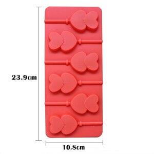 Image 5 - 1 pçs molde de silicone lollipop 9 tipos de bolo de chocolate fondant molde de biscoito geléia pudim moldes diy ferramentas de decoração do bolo de cozimento 20