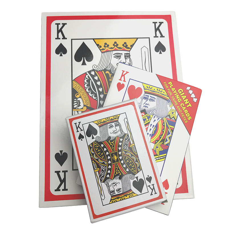 3 Size Times Jumbo Giant Pokers Playing Cards Deck Of Big Playing Cards Fun Full Poker Magic Trick Game Set