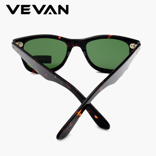 VEVAN Green Glass Lenses Luxury Sunglasses Women Brand designer Acetate Frame Sun glasses For women Multi Color Square Eyewear 8