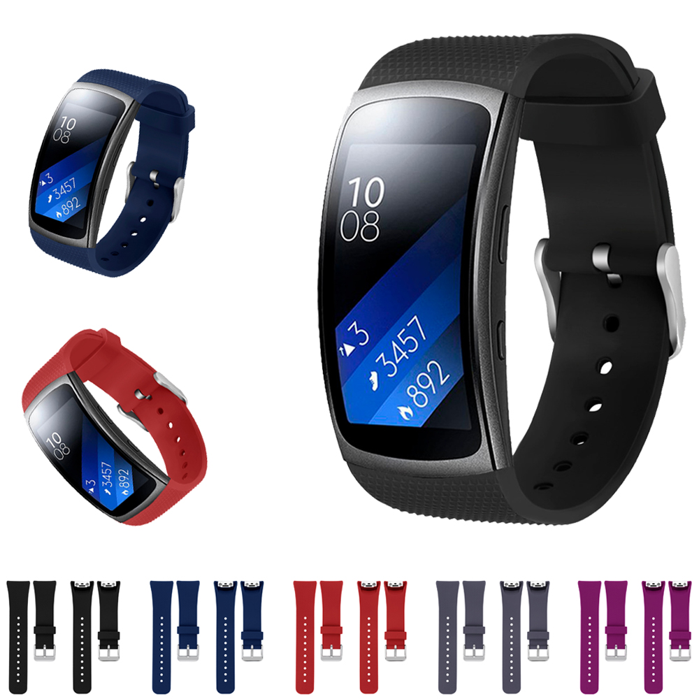 New Sport Soft Silicone Band for Samsung Gear Fit2/Fit 2 Pro R360 R365 R366 Smart Watch strap replacement rubber clock strap luxury silicone watch replacement band strap for samsung gear fit 2 sm r360 wristband 100