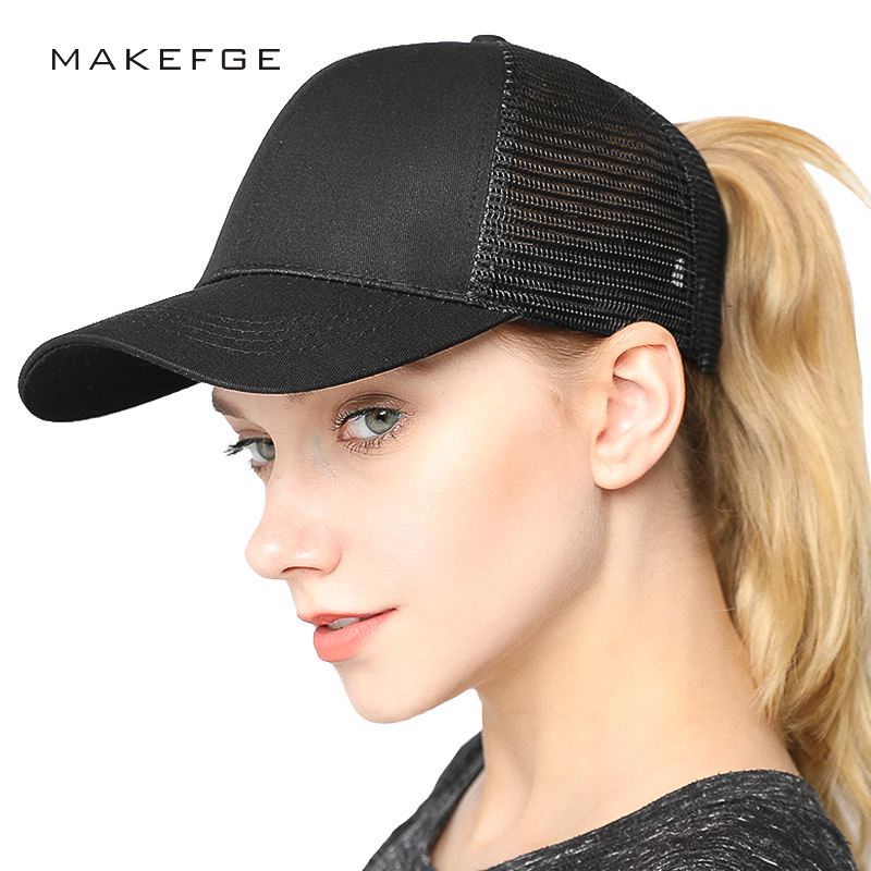 trucker hat caps women baseball cap Ponytail Baseball Cap Hats For Women  Summer Cap Female Stylish Girls Hat For Ladies-in Baseball Caps from  Apparel ... 22d7f902934