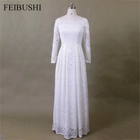 FEIBUSHI White Lace Off Shoulder Dresses Embroidery Sexy Women 2017 Long Sleeve Casual Evening Party Formal