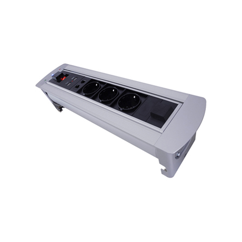 Automatic Electric Flipping Rotation Sockets 180 degree Socket  3 EU Power outlets+ 2 RJ45 Network, 2 USB Charging, 1 Switch