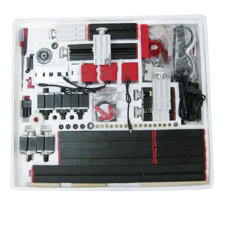 1PC 12V 8 in 3 All Metal Multi Functional Lathe DIY Mini Lathe Machine Tooll mini lathe for wood and Soft Metal