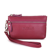 Genuine Cow Real Leather Ladies women envelope bag Long Wallets Holder Clutch Evening bag Mini female Wristlets Clutches Handbag