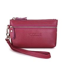 Genuine Cow Real Leather Ladies women envelope bag Long Wallets Holder Clutch Evening bag Mini female