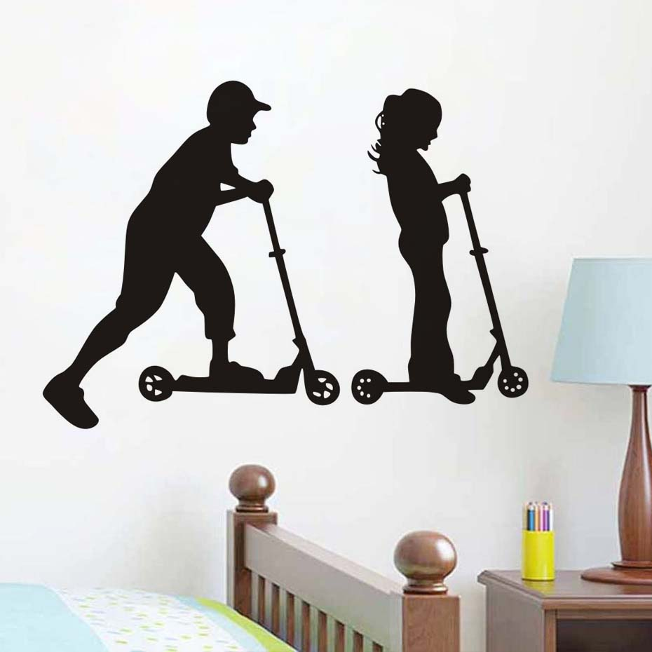 Buy scooter wall stickers and get free shipping on aliexpress amipublicfo Gallery
