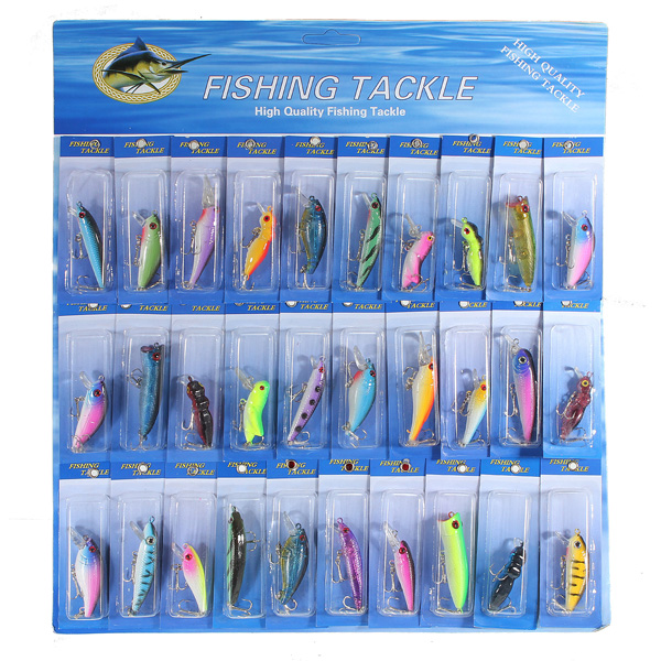 Good deal 30 Pcs Metal Fishing Lure Minnow  Pike Salmon Baits Bass Trout Fish Hooks 1x japan pike fighter musky fishing lure floating minnow fresh water hard plastic baits 30g 160mm bass pike lure walleye crappie