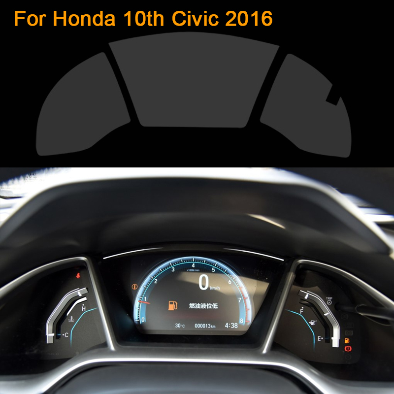 Car Styling Car Dashboard Paint Protective PET Film For Honda 10th Civic 2016 Light transmitting 4H