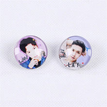 Youpop KPOP EXO LAY Album Brooch Pins Glass Badge Accessories For Clothes Hat Backpack Decoration HZ404(China)