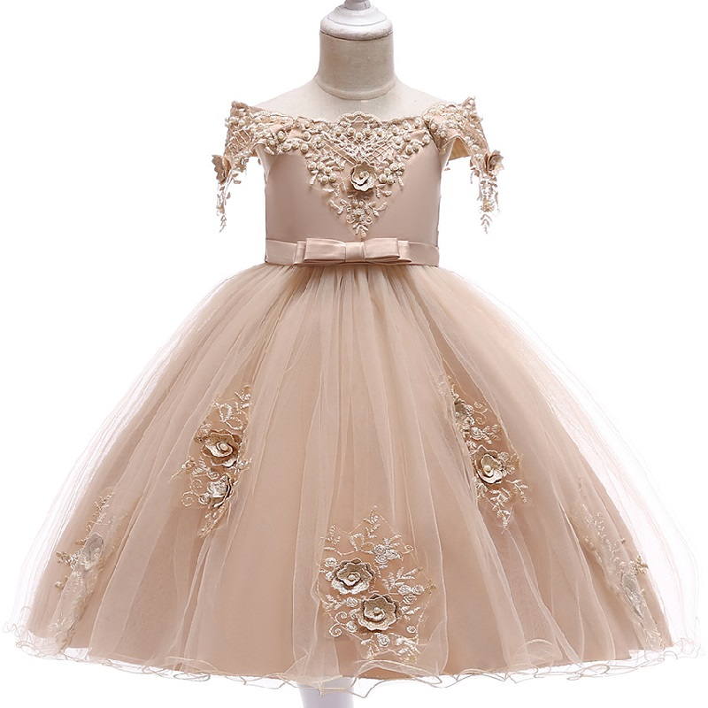 New Style Party Dresses For Girls New College Opening Elegant Flower Girl Wedding Party And Ball Party Vestidos De Fiesta