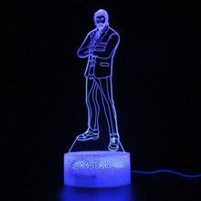 Game Battle Royale Remote Control 3d Table Lamp Touch Led Light Party Decoration Night Light Projection  Lamp Illusion цена и фото
