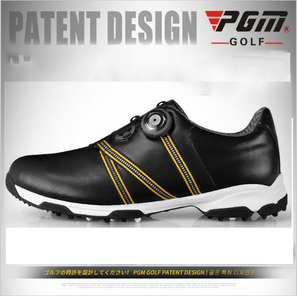 2016 new PGM Golf Shoes Mens Leather anti-skid breathable groove patent sports sneakers golf shoes freeshipping2016 new PGM Golf Shoes Mens Leather anti-skid breathable groove patent sports sneakers golf shoes freeshipping