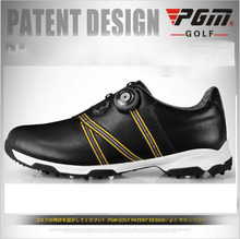 2016 new PGM Golf Shoes Mens Leather anti-skid breathable groove patent sports sneakers golf shoes freeshipping