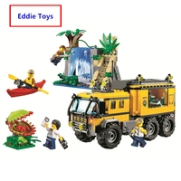 Hot Sale City Jungle Explorers Jungle Mobile Lab building blocks Kits Educational Toys For Children Compatible with Lego 60160