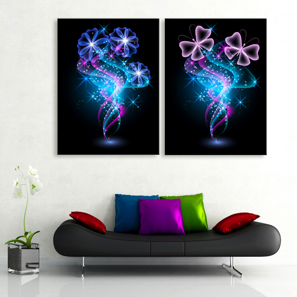Led Wall Light Flashing: Free Shipping Stretched Canvas Prints Flash Of Light
