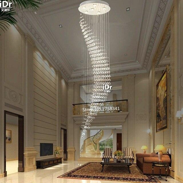 Runde Treppen | Neue Moderne Treppen Lange Kristall Runde Kronleuchter Lampen