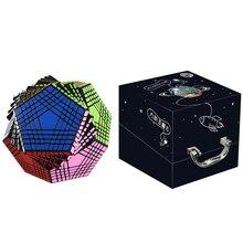 Nouveauté Shengshou Petaminx autocollants Cube magique Puzzles noir 9x9 dodécaèdre Cubo Magico jouet éducatif cadeau pour les enfants