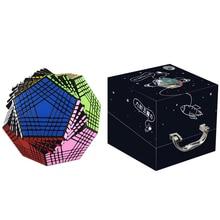 Yeni varış Shengshou Petaminx Stickered sihirli küp bulmaca siyah 9x9 Dodecahedron Cubo Magico eğitici oyuncak çocuklar için hediye