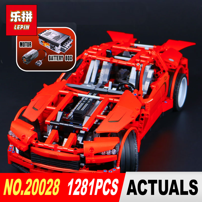 LEPIN 20028 Technic series 1281Pcs Super car Model Building blocks Bricks Model Compatible Legoed 8070 Toy for boys gifts lepin 21003 series city car classical travel car model building blocks bricks compatible technic car educational toy 10252