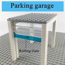 Dubbi diy строительные блоки гараж с подвижными воротами аксессуары