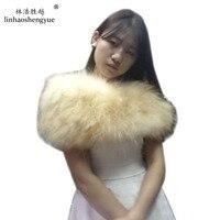 Linhaoshengyue Fox fur knitting scarf