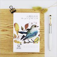 30Pcs Pack Flying Birds Forest Flower Plant Greeting Card Postcard Birthday Letter Envelope Gift Card Set
