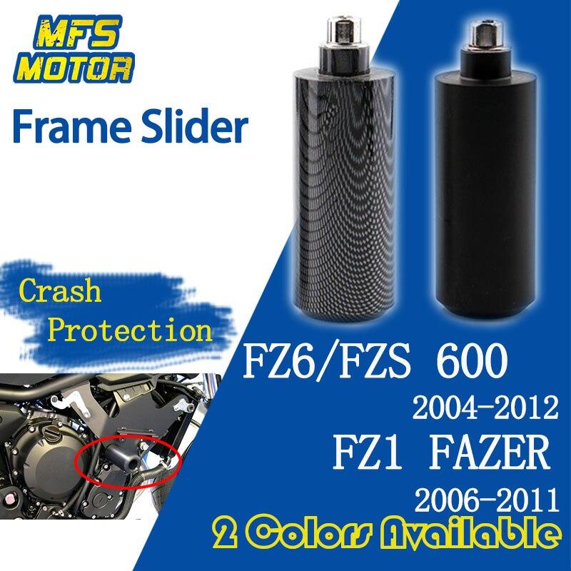 Carbon Fiber Frame Slider Crash Protector for Yamaha FZ6 FZS600 FZ6N FZ6 FAZER