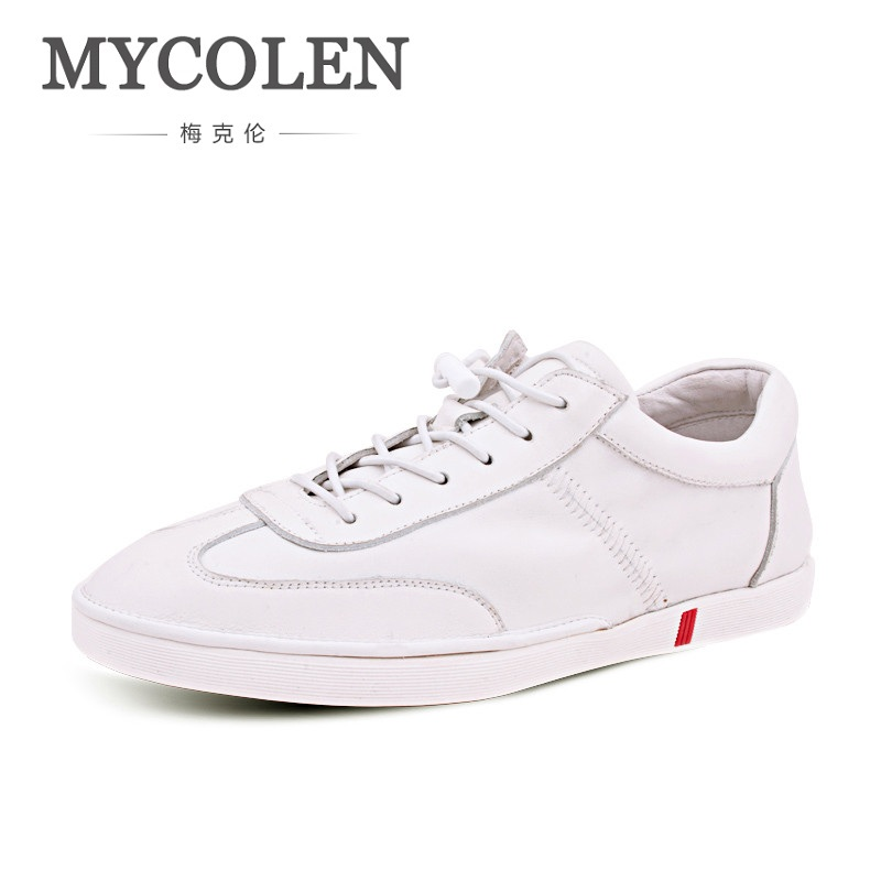 MYCOLEN Men's Shoes Handmade Genuine Leather Men Casual Shoes Men Fashion Designer Lace-Up Flats Sneakers Low Shoes Zapatos ege brand handmade genuine leather spring shoes lace up breathable men casual shoes new fashion designer red flat male shoes