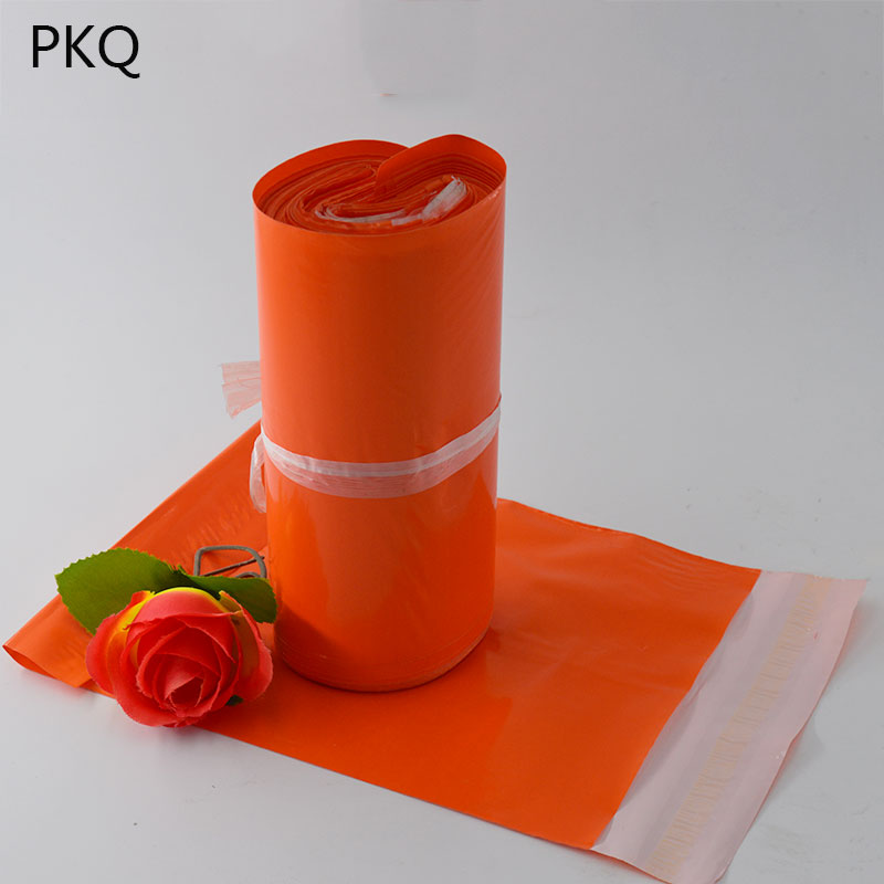 Poly mailer bags 100PCS Orange Plastic Waterproof Mailer Poly Mailer Self Sealing Plastic Shipping Mailing Bag Package Polybag