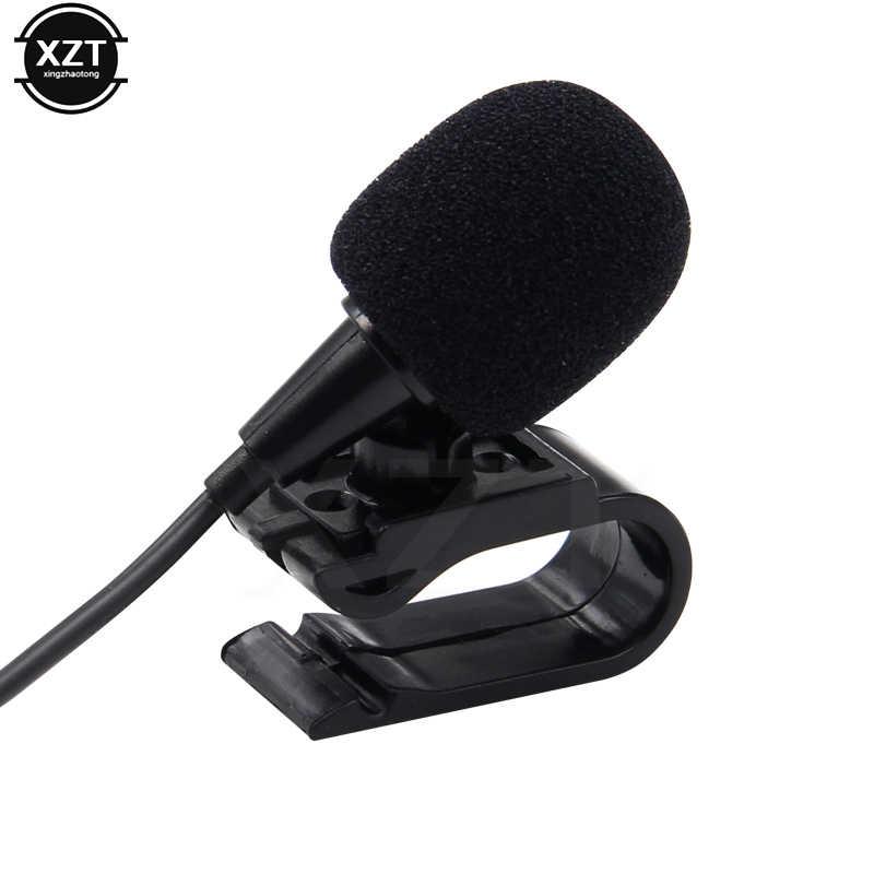 MINI profesjonaliści samochodowy sprzęt Audio mikrofon wtyczka Jack 3.5mm mikrofon Stereo Mini przewodowy zewnętrzny mikrofon na PC Auto samochodowy odtwarzacz DVD Radio nowość
