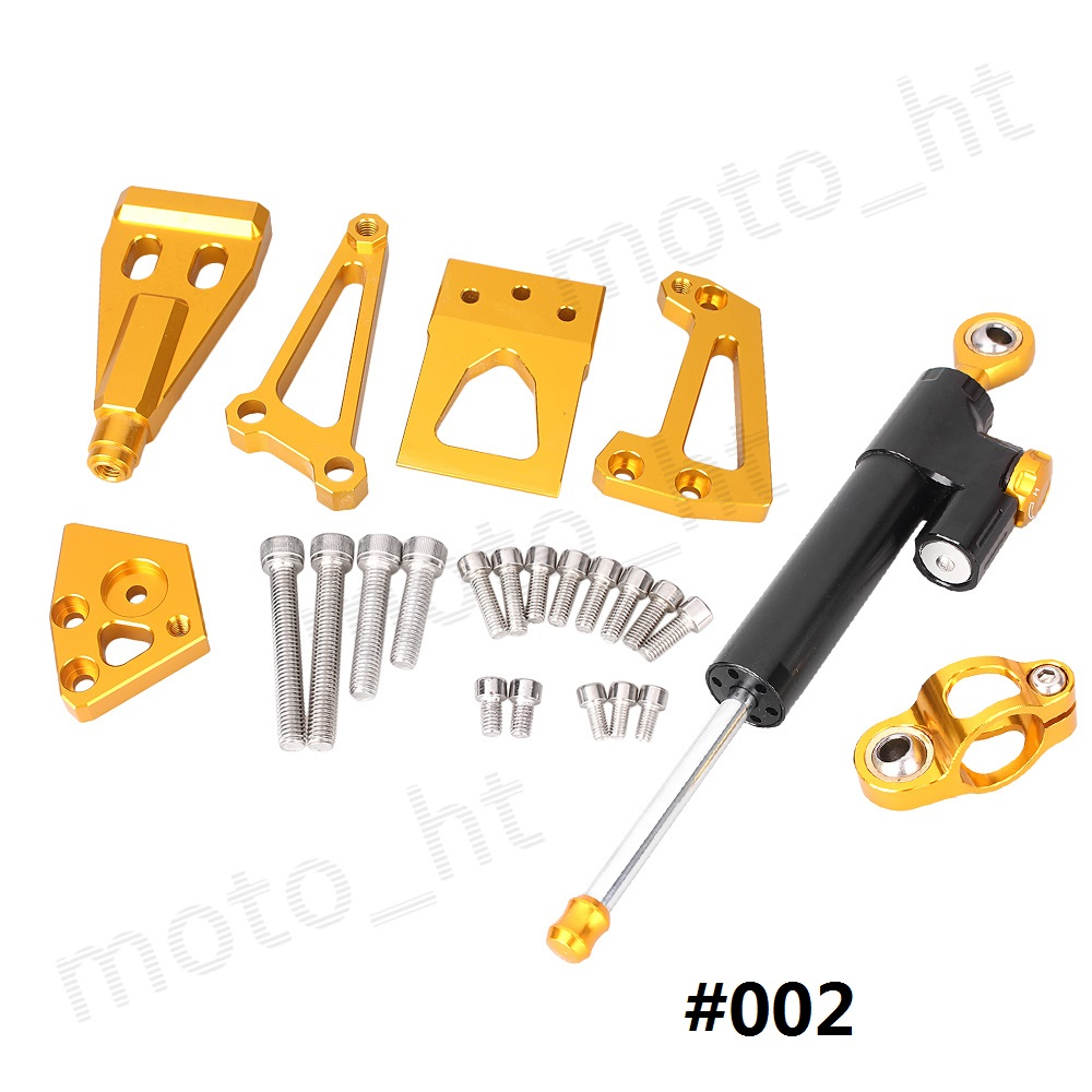 ФОТО CNC Steering Damper Stabilizer with Bracket Mounting Kit for KAWASAKI ER6N 2009 2010 2011