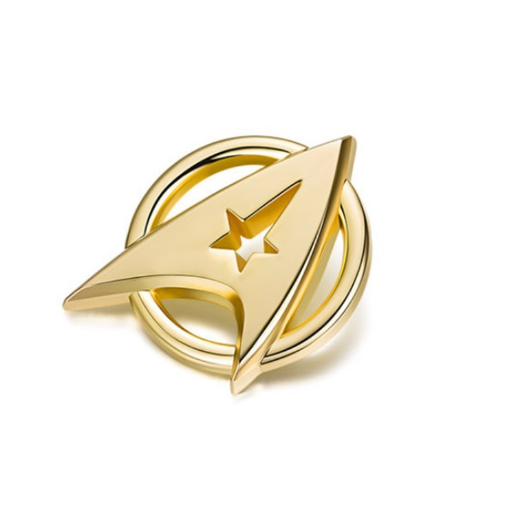 2016 NEW movie Star Trek Beyond Captain communicator badge alloy Gold-plated brooch badge cosplay anime accessory props badge