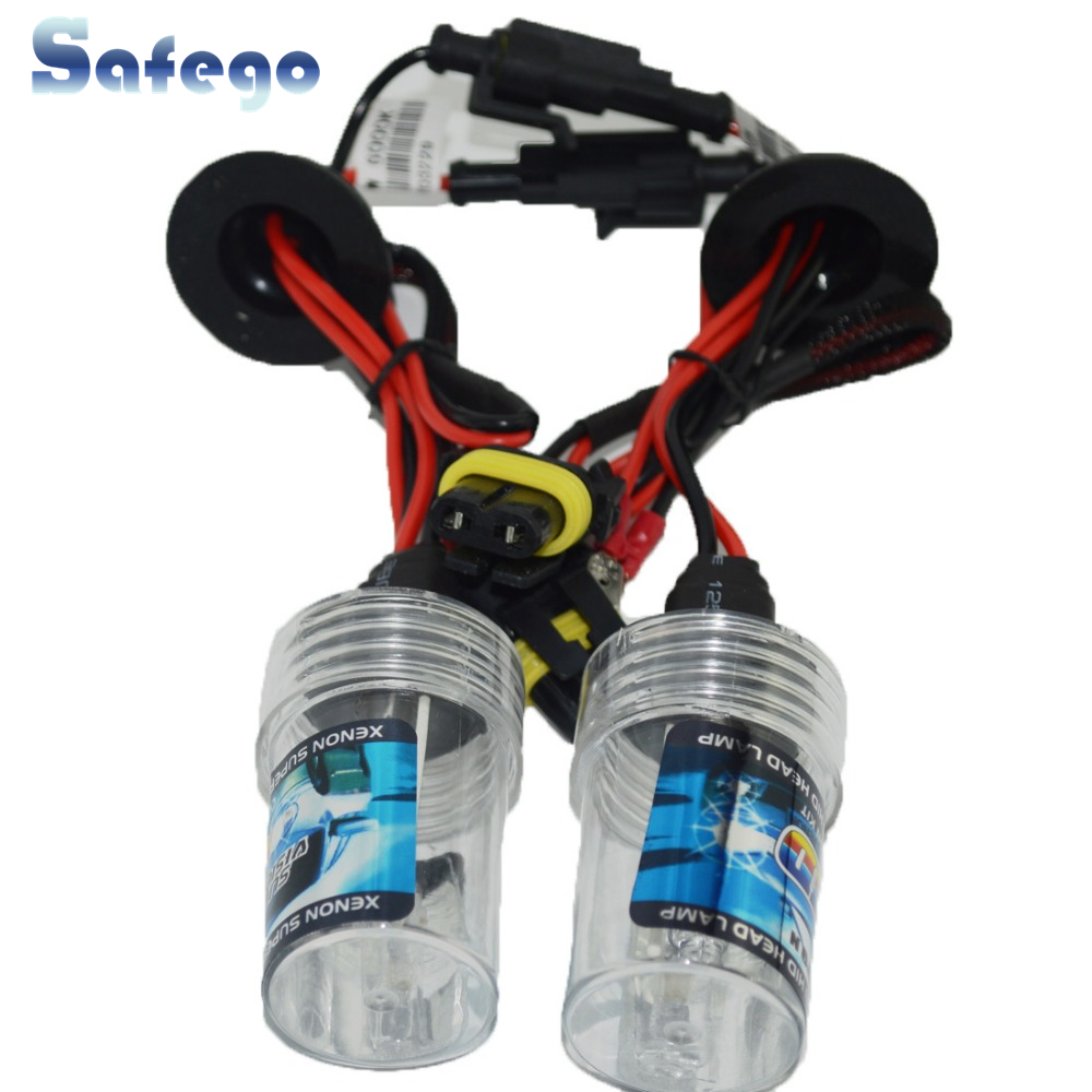 Safego DC 55w H7 HID Xenon Headlight Singel Beam Car Motorcycle Lamp Bulbs 3000K 4300K 5000K 6000K 8000K 10000K 12000K 12V 24V
