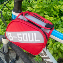 New Arrival 17.5* 17*12cm Cycling Bag Waterproof Bike Top Tube Saddle Bag Bicycle Frame Pannier Bag Rack Bicycle Accessories